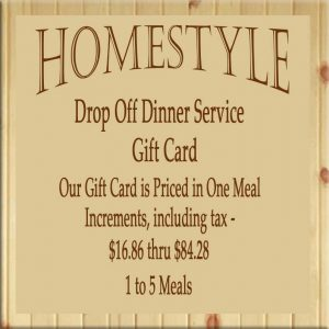 HomeStyle Dinner Delivered gift card